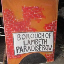 Borough of Lambeth - painted onto canvas