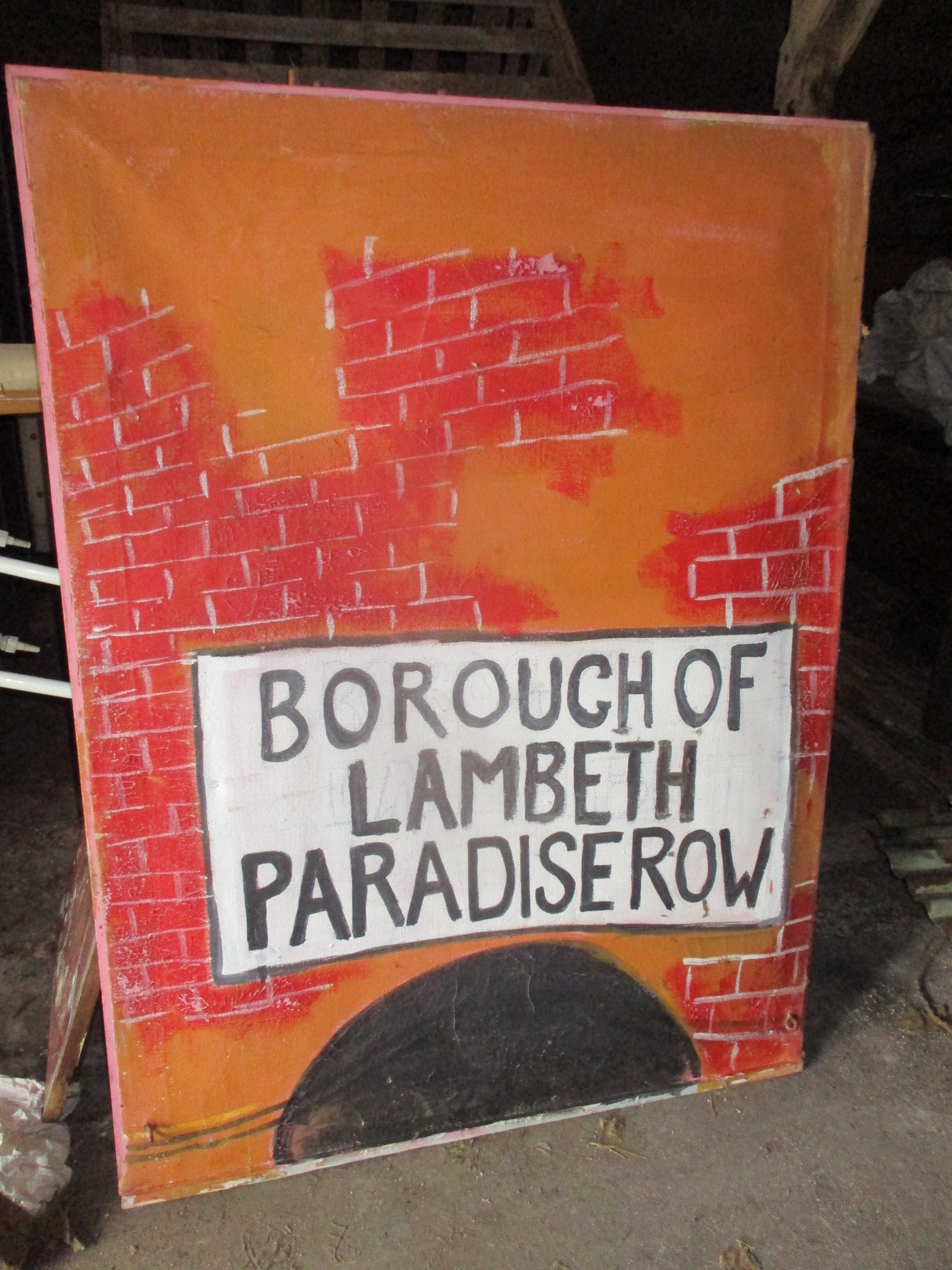 Borough of Lambeth - painted onto canvas