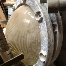 Round recessed light fittings.