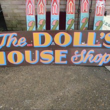 The Dolls House Shop - handpainted oil on ply.
