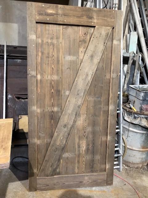 Sliding door - Ledged braced and framed door