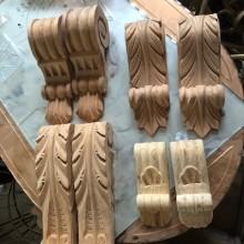 Corbels - Carved wooden corbels