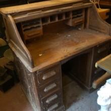 Rolltop Desk - oak - to renovate