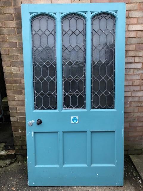 Leaded part glazed Victorian Door