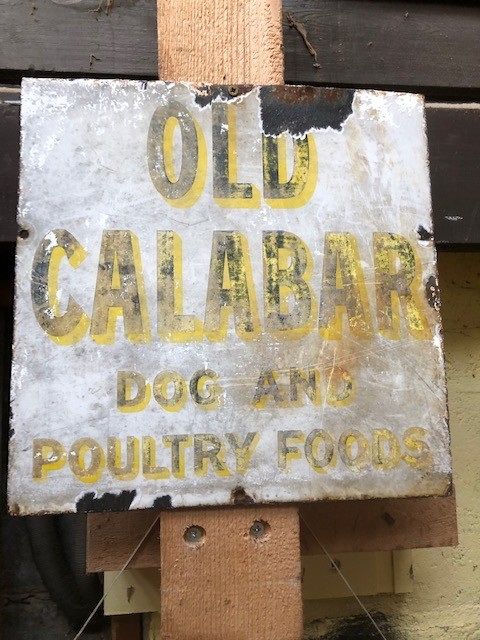 Old Calabar Vintage enamel sign