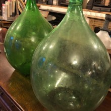 Carboys - pair green coloured 18