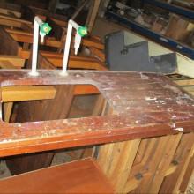 Iroko butler sink drainer worktop section