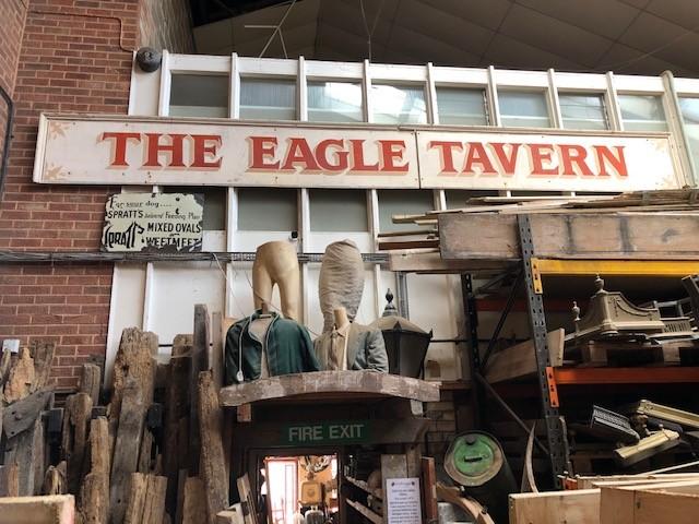 Eagle Tavern - hand painted on wood.