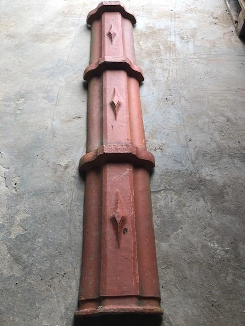 Tuileries de beauvais red clay ridge tiles