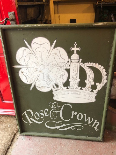 Rose and Crown Pub Hanger sign - double sided
