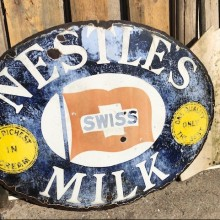 Nestles Milk original enamelled sign