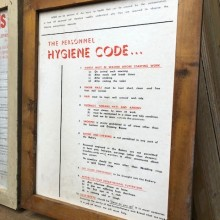 Hygiene Code printed workshop notices - 3 available