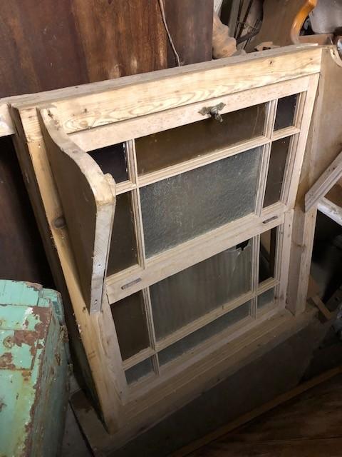 Coloured opening casement window