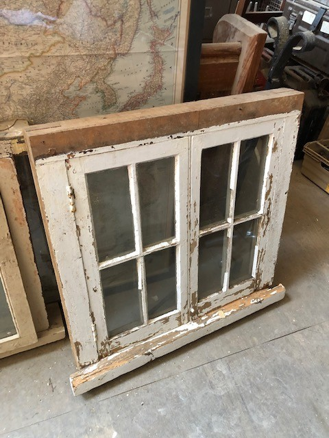 Double opening casement timber window