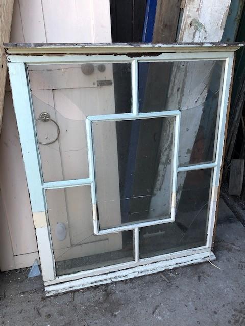 Decorative square patterned window