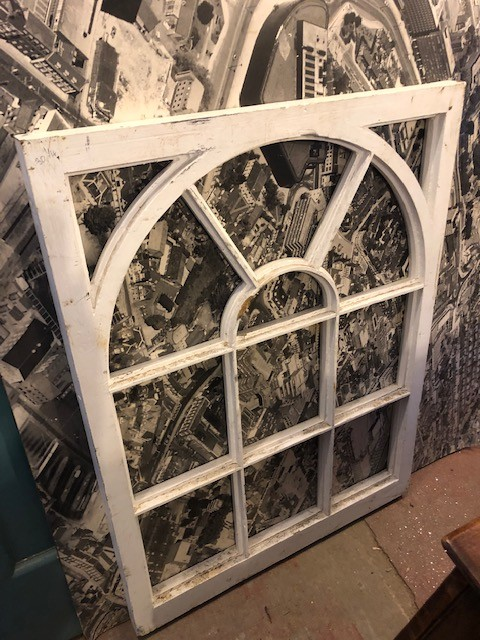 Arched window casement - timber