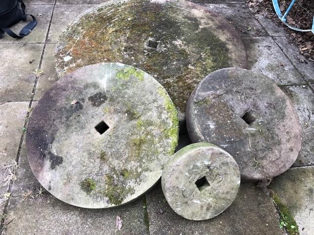 Millstones - 4ft - 1ft in diameter
