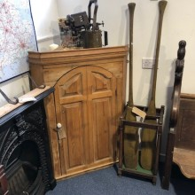 Corner pine cupboard