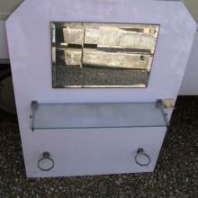 Vanity Mirror White Encaustic Glass
