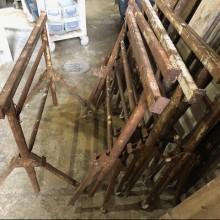 Trestles - wrought iron folding builders trestles for tables