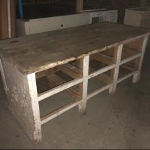 Sideboard Desk drawer storage - vintage painted 6 drawers