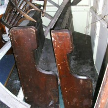 Pews - Reclaimed pews ready for alteration