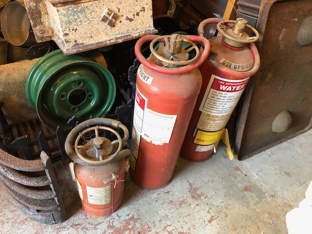 Extinguishers - vintage brass topped examples