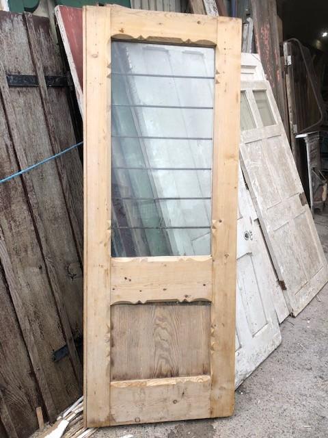 Glazed pine door