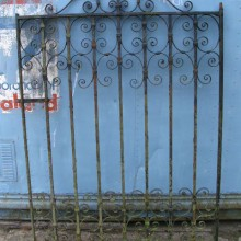 Garden gate - strapwork wrought iron