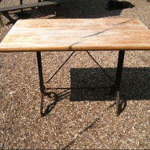 Tables - Iron and American Oak tables