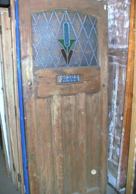 Art Deco period leaded front door