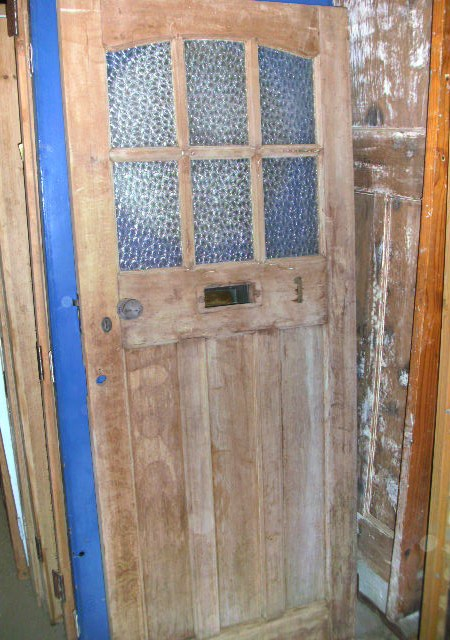 1930's external front door plain glass