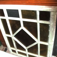 Diamond pattern window frame