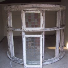 Victorian Bay window with leaded lights