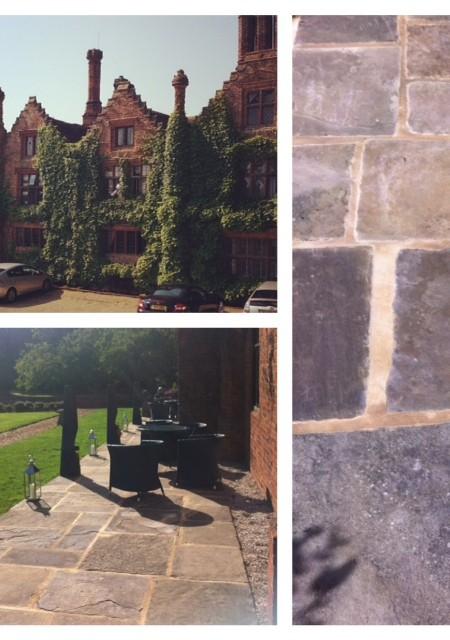 Seckford Hall Hotel reclaimed yorkstone flagstone patio