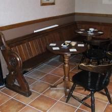 Victorian Pews repurposed into Pub seating