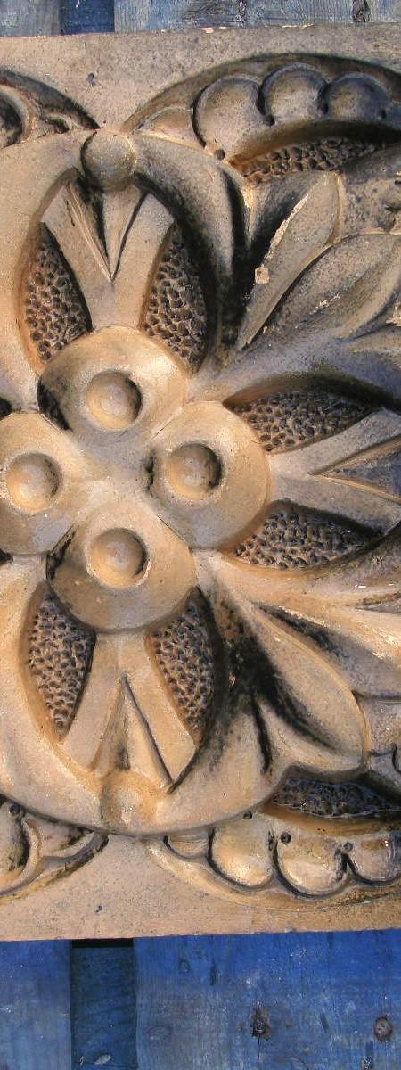 Ruabon Shamrock patterned brick tile