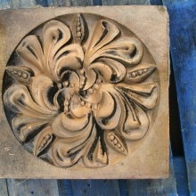 Ruabon Lily patterned brick tile