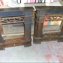Pair period Gas fire surrounds 25
