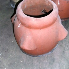 Red 1ft vented pots , set of 7