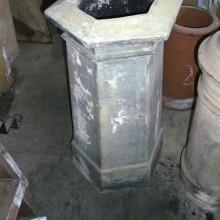 Hexagonal Georgian buff clay pot