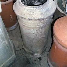Georgian round buff clay pot