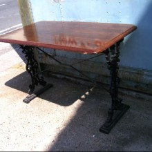 Tables - Outside wrought iron pub table bases
