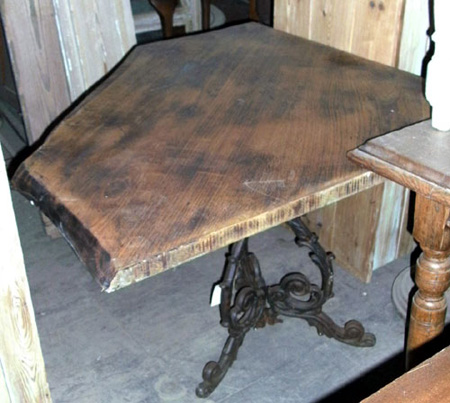 Corner Table - Iron Based Elm top