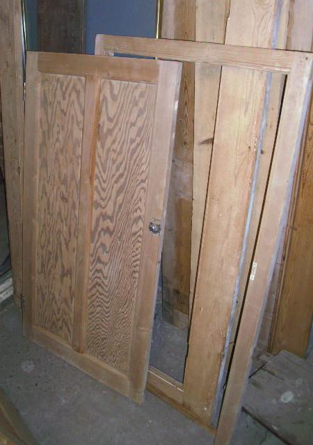 single cupboard door and frame