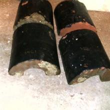 Half round coping bricks - black