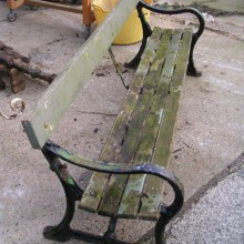 Bench seat - Vintage Ponders End Railway Station bench