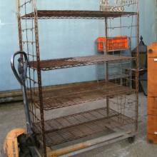 Rack - Wheeled metal shelf rack