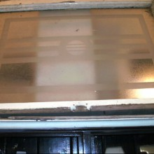 Art Deco etched pattern glass