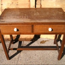Console - Oak console or side table with drawers